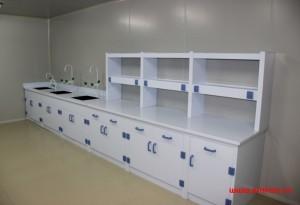 实验室家具—实验台PP边台(满柜)